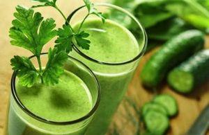 Nós descarregamos o organismo - estamos estudando o menu da dieta verde