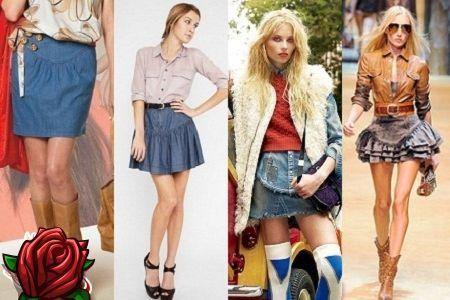 Saias de jeans denim na moda e elegantes - 2018