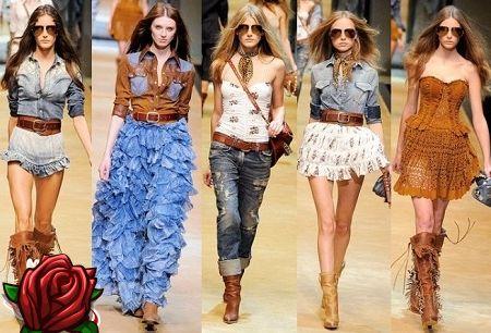 Estilo country em roupas para mods e mulheres de moda