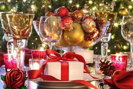 Cócteles de año nuevo con alcohol