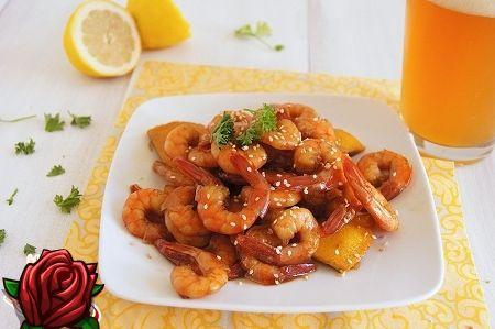 Креветки жареные в соевом соусе рецепт с пошагово