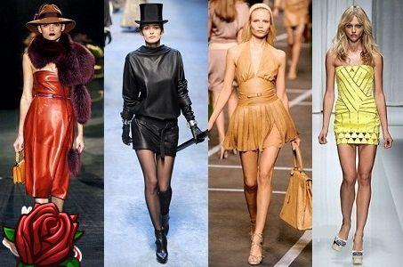 Vestido de cuero: foto, soluciones de diseño de moda, tendencia