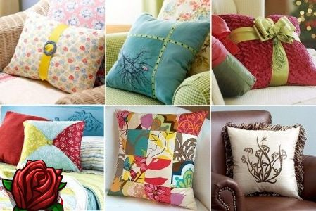 Almofadas decorativas no interior: pequenas coisas encantadoras