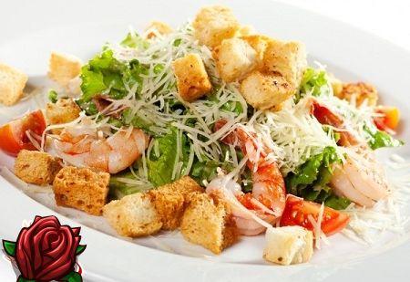 Kreeka salat krevettide - Vahemere kööki retsept