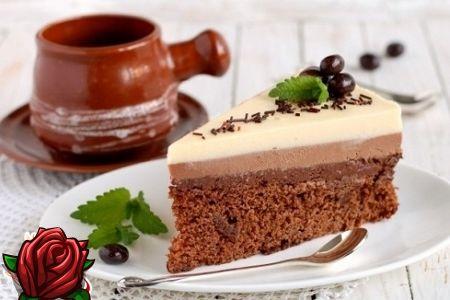Kolm värvi ja maitse ühes täiuslikkuses: kook kolm šokolaadi