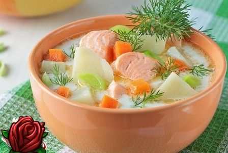 Fiskesuppe med laks