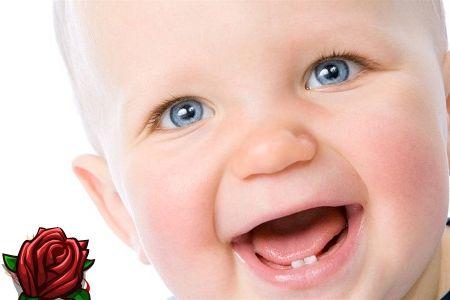 Mudança de dentes de bebê em crianças